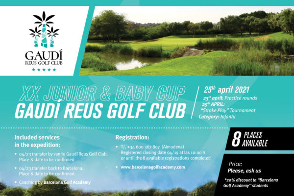 On 23rd of April, open expedition to the Junior & Baby Cup in Gaudí Golf