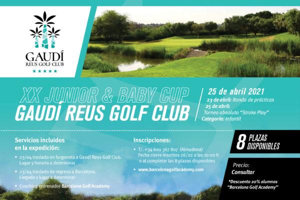 El 23 de abril, expedición abierta a la Junior & Baby Cup de Gaudí Golf