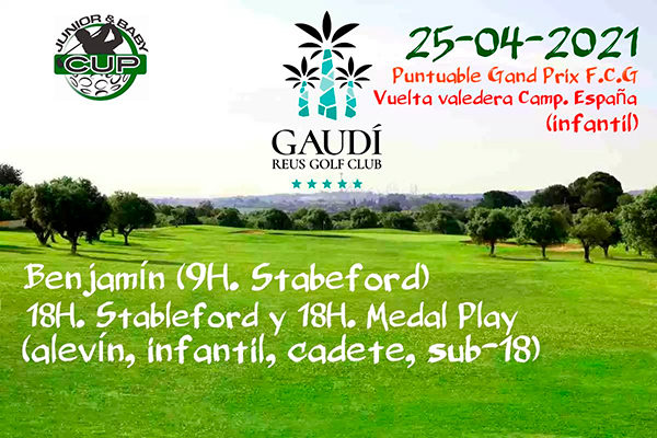 Leo Oliver, the best in the Junior & Baby Cup at Gaudí Golf Club