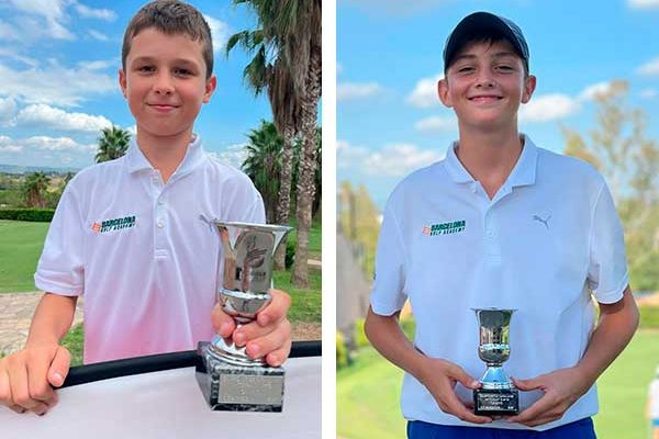 Leo Oliver and Jan Farré, Catalonia Match Play champions at the Club de Golf Barcelona